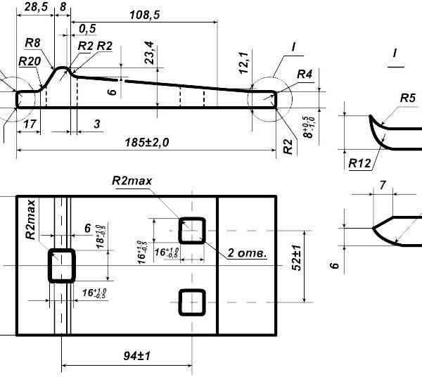 чертеж рельсовой подкладки Д-18